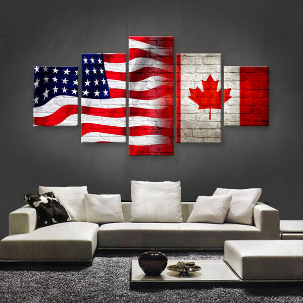 HD PRINTED LIMITED EDITION AMERICAN - CANADIAN (CANADA) CANVAS (AMC15002)