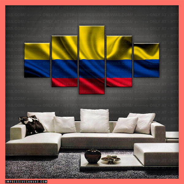 HD PRINTED LIMITED EDITION - COLOMBIAN (COLOMBIA) FLAG CANVAS (FLAG150077)
