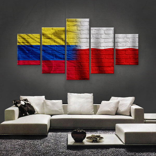 HD PRINTED LIMITED EDITION COLOMBIAN - POLISH FLAG CANVAS (COPO150040)