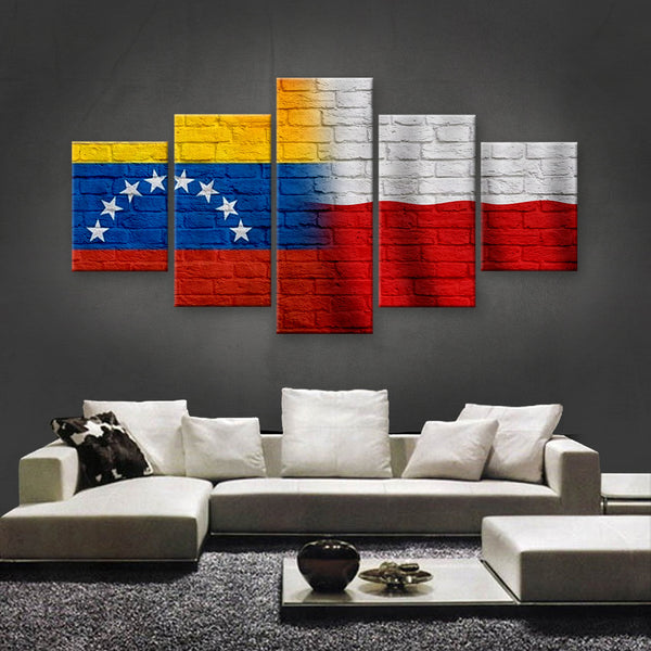 HD PRINTED LIMITED EDITION VENEZUELAN - POLISH FLAG CANVAS (VZPO150038)