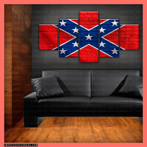 HD PRINTED LIMITED EDITION AMERICAN - REBEL (CONFEDERATE) MAIN FLAG CANVAS (FLAG150070MAIN)