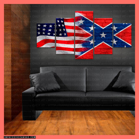 HD PRINTED LIMITED EDITION AMERICAN - REBEL (CONFEDERATE) FLAG CANVAS (FLAG150070)