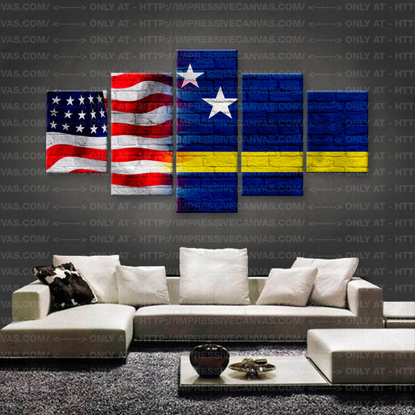 HD PRINTED LIMITED EDITION AMERICAN - CURAÇAOAN (CURAÇAO) FLAG CANVAS (FLAG150050)