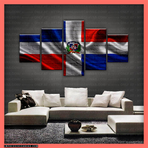 HD PRINTED LIMITED EDITION - DOMINICAN (DOMINICAN REPUBLIC) FLAG CANVAS (FLAG150078)
