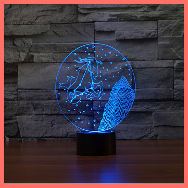 SMART TOUCH 3D LED LAMP ZODIAC CAPRICORN SIGN (ZLED610009)