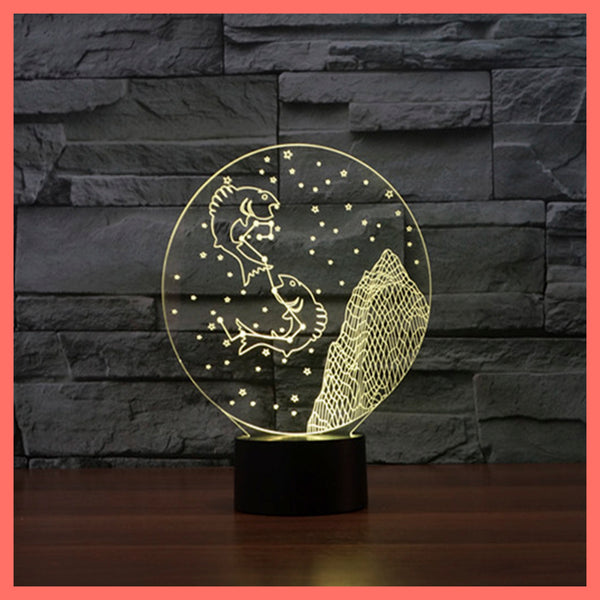 SMART TOUCH 3D LED LAMP ZODIAC PISCES SIGN (ZLED610008)