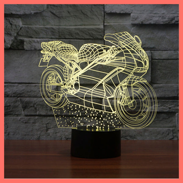 SMART TOUCH 3D LED LAMP BIKER (BLED910001)