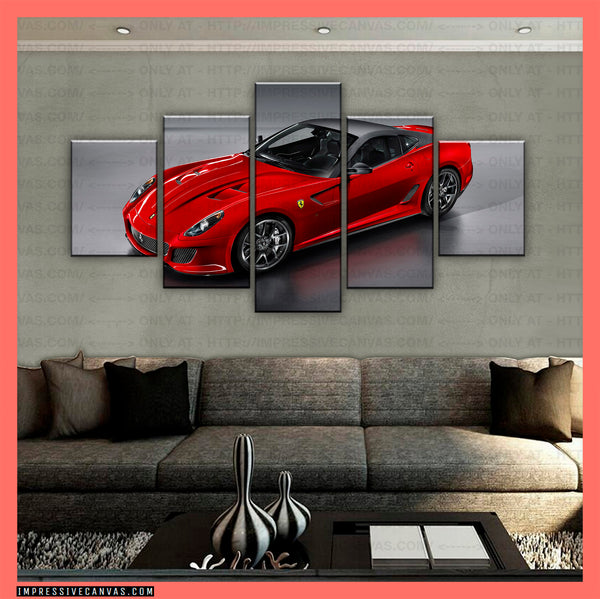 HD PRINTED LIMITED EDITION CAR CANVAS (FERRARI) - (CARC160039)