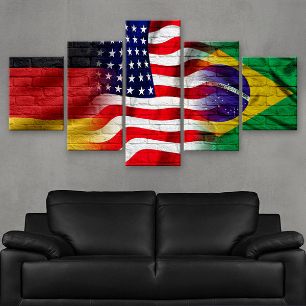 HD PRINTED LIMITED EDITION GERMAN - AMERICAN - BRAZILIAN (FLAG120077)