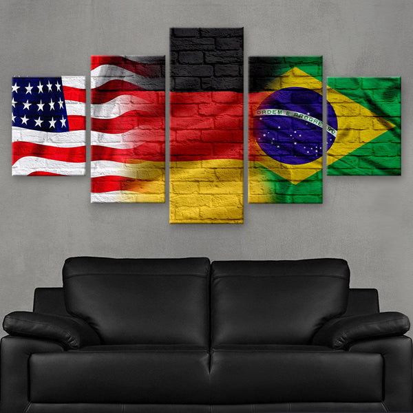HD PRINTED LIMITED EDITION AMERICAN - GERMAN - BRAZILIAN (FLAG120078)