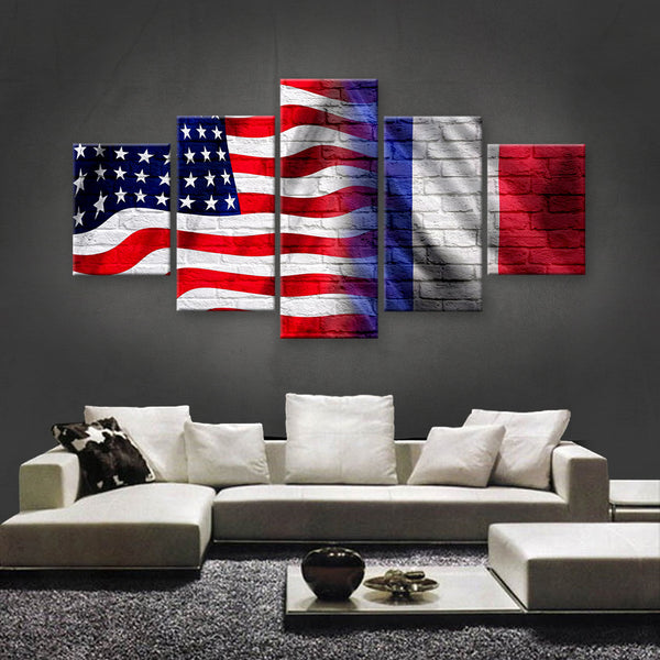 HD PRINTED LIMITED EDITION AMERICAN - FRENCH (FRANCE) CANVAS (AMF15006)