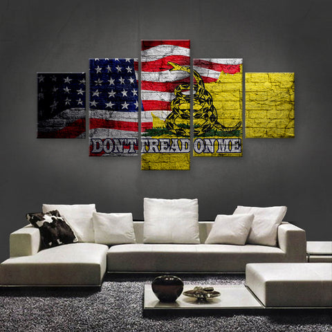 HD PRINTED LIMITED EDITION GADSDEN - AMERICAN FLAG CANVAS (GDAM150023)
