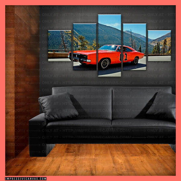HD PRINTED LIMITED EDITION CAR CANVAS (GENERAL LEE) - (CARC160008)