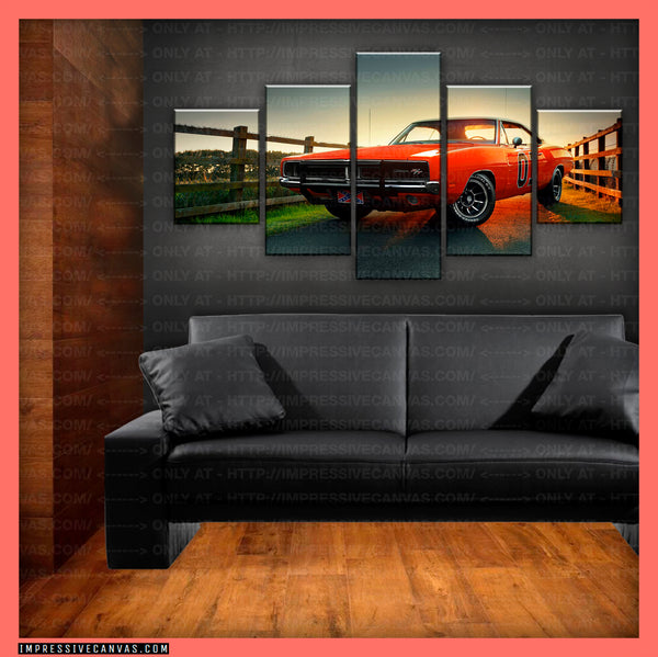 HD PRINTED LIMITED EDITION CAR CANVAS (GENERAL LEE) - (CARC160009)