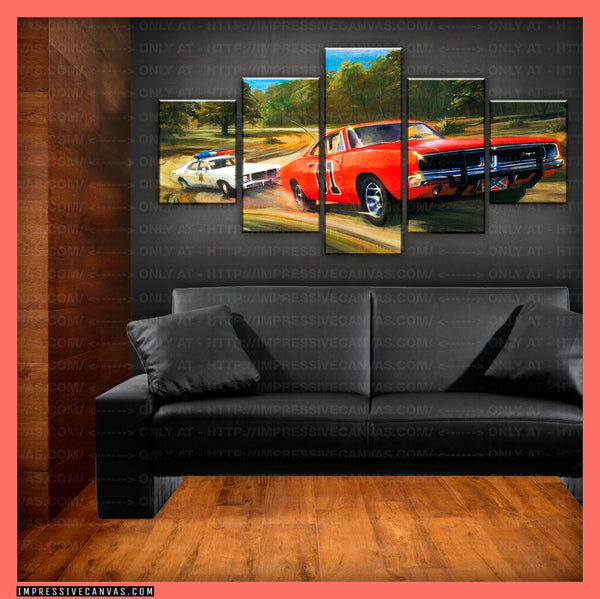 HD PRINTED LIMITED EDITION CAR CANVAS (GENERAL LEE) - (CARC160010)