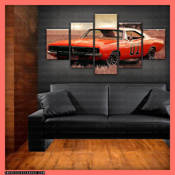 HD PRINTED LIMITED EDITION CAR CANVAS (GENERAL LEE) - (CARC160043)