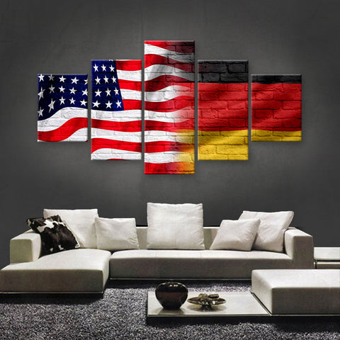 HD PRINTED LIMITED EDITION AMERICAN - GERMAN (GERMANY) CANVAS (AMG15007)