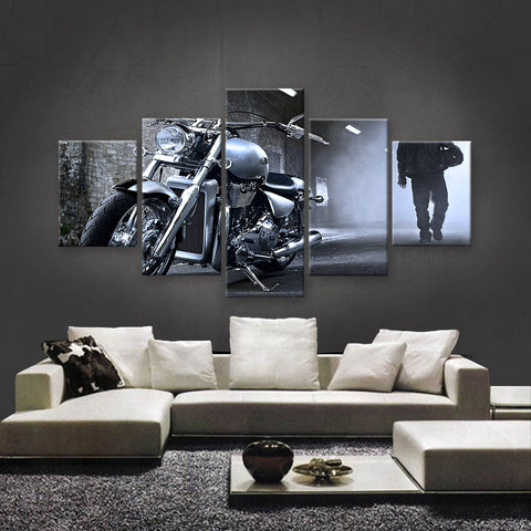 HD PRINTED LIMITED EDITION BIKER CANVAS (154016)
