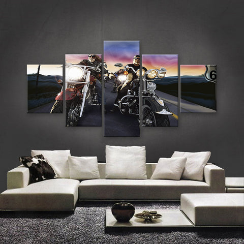 HD PRINTED LIMITED EDITION BIKER CANVAS (154017)
