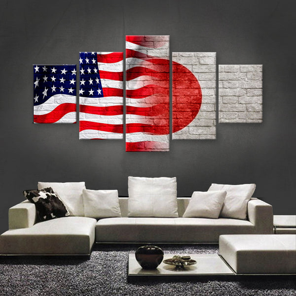 HD PRINTED LIMITED EDITION AMERICAN - JAPANESE (JAPAN) CANVAS (FLAG120005)