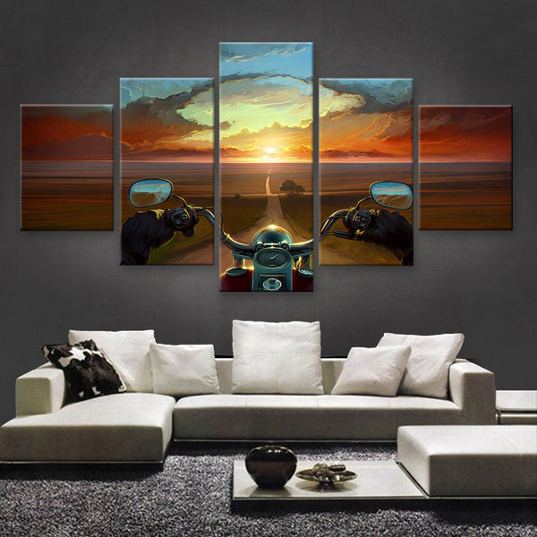HD PRINTED LIMITED EDITION CAR CANVAS (FERRARI) - (CARC160035)
