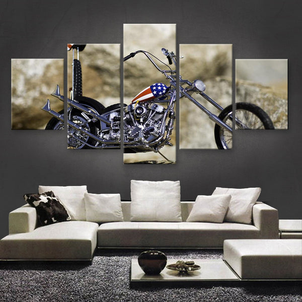 HD PRINTED LIMITED EDITION BIKER CANVAS (154021)