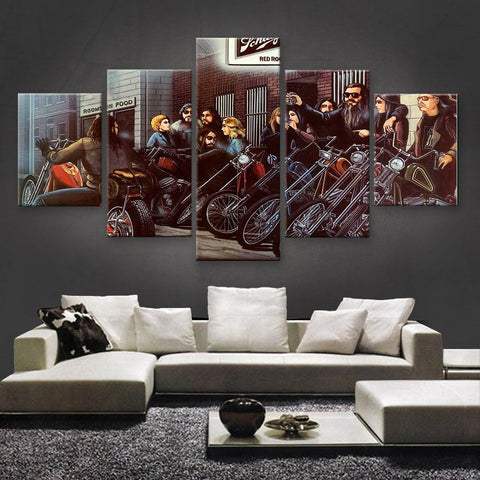 HD PRINTED LIMITED EDITION BIKER CANVAS (154023)