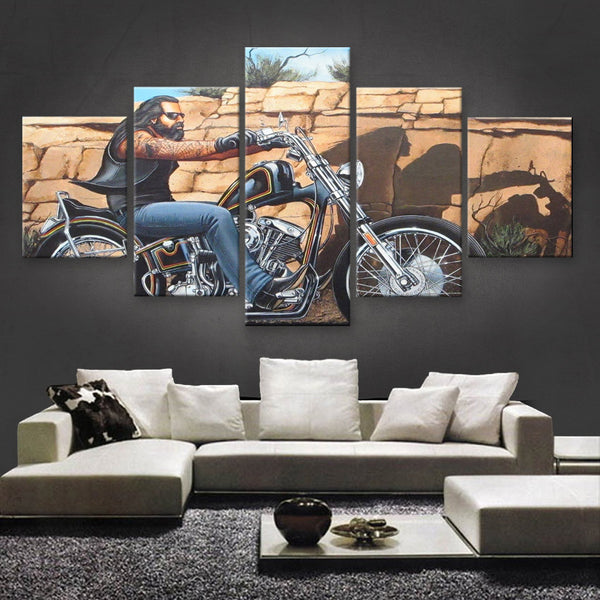 HD PRINTED LIMITED EDITION BIKER CANVAS (154024)