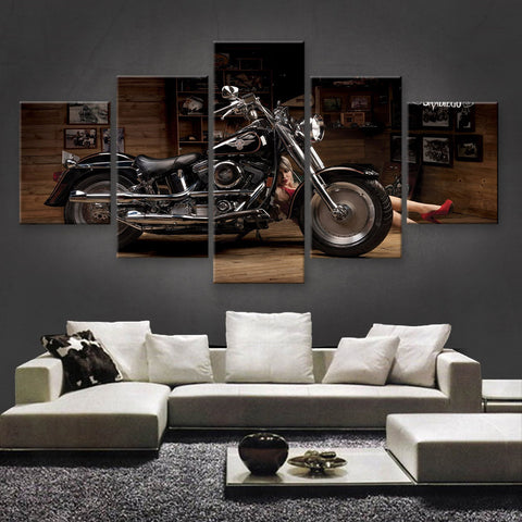 HD PRINTED LIMITED EDITION BIKER CANVAS (154027)