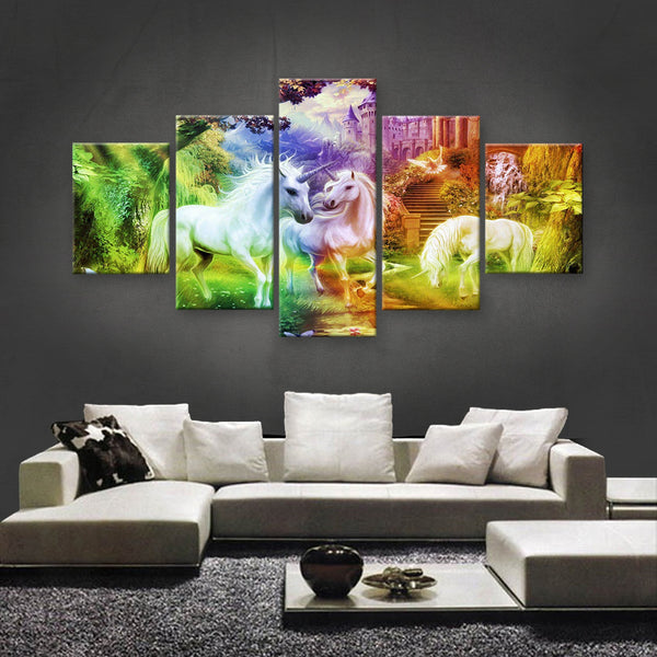 HD PRINTED LIMITED EDITION UNICORN CANVAS (UNI160003)