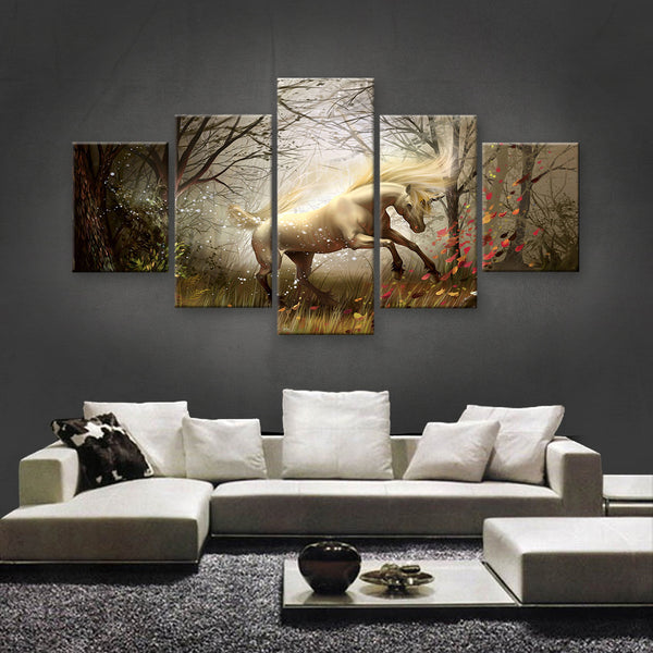 HD PRINTED LIMITED EDITION UNICORN CANVAS (UNI160002)