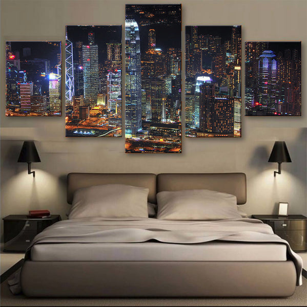 HD PRINTED LIMITED EDITION SKYLINE CANVAS -Hong Kong- (155001)