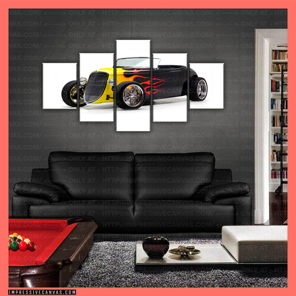 HD PRINTED LIMITED EDITION CAR CANVAS (HOT ROD) - (CARC160011)