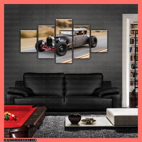 HD PRINTED LIMITED EDITION CAR CANVAS (HOT ROD) - (CARC160012)