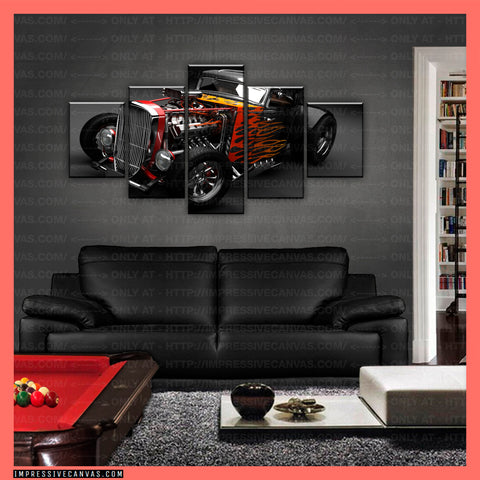 HD PRINTED LIMITED EDITION CAR CANVAS (HOT ROD) - (CARC160014)