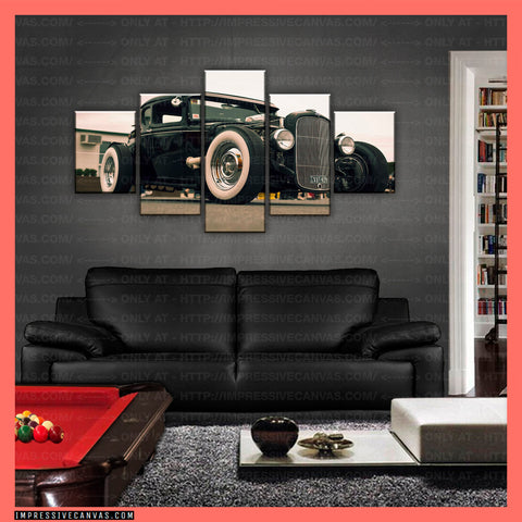 HD PRINTED LIMITED EDITION CAR CANVAS (HOT ROD) - (CARC160015)