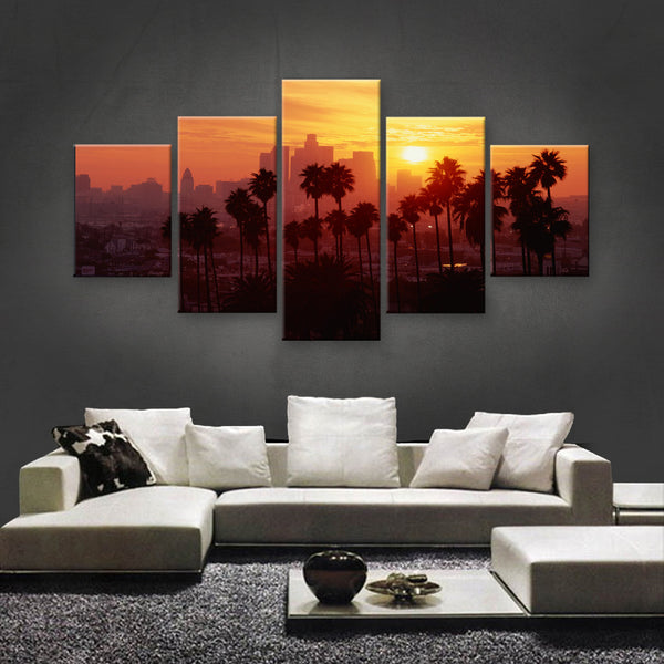 HD PRINTED LIMITED EDITION DOWNTOWN LOS ANGELES, CALIFORNIA SKYLINE CANVAS (SKC155018)