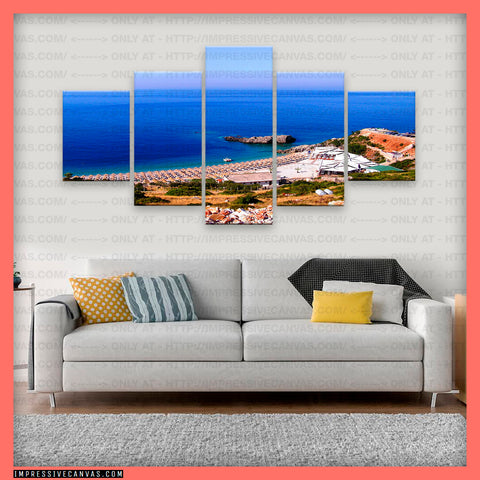 HD PRINTED LIMITED EDITION HIMARA BEACH, ALBANIA CANVAS (BCHAL710004)