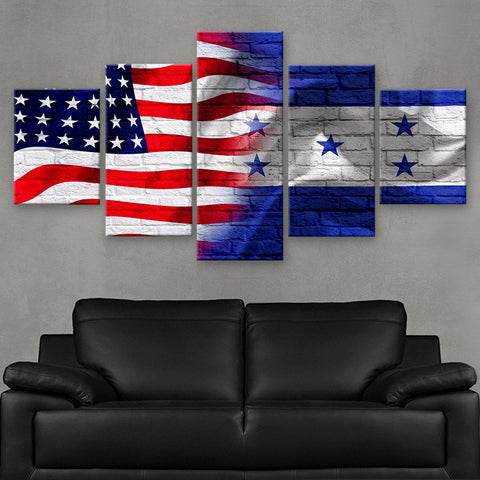 HD PRINTED LIMITED EDITION AMERICAN - HONDURANS (HONDURAS) FLAG CANVAS (FLAG120053)