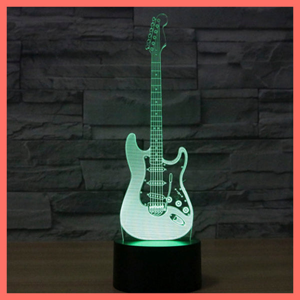 SMART TOUCH 3D LED LAMP MUSIC ELECTRIC GUITAR (MLED710004)