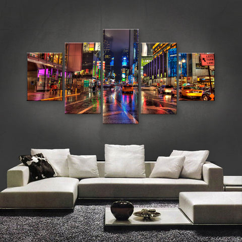 HD PRINTED LIMITED EDITION MANHATTAN, TIME SQUARE, NEW YORK CANVAS (SKC155011)