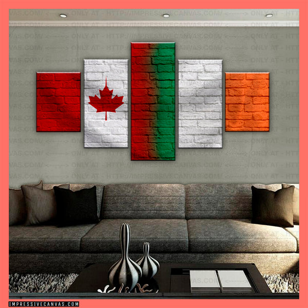 HD PRINTED LIMITED EDITION CANADIAN - IRISH (IRELAND) CANVAS (CANIE210010)