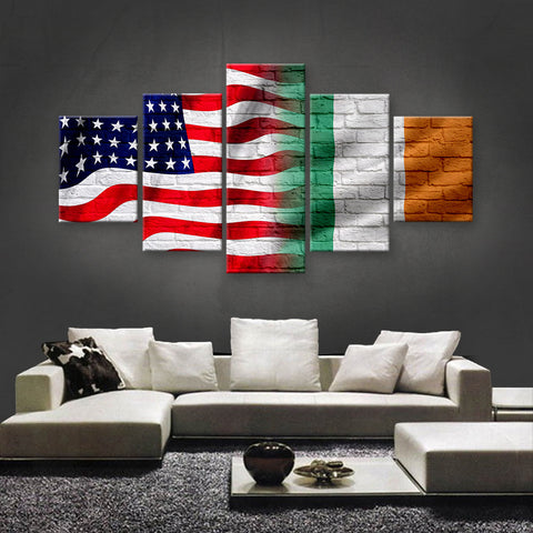 HD PRINTED LIMITED EDITION AMERICAN - IRISH (IRELAND) CANVAS (AMI15008)