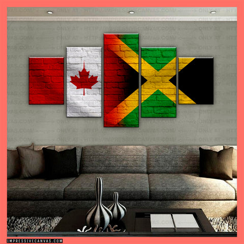 HD PRINTED LIMITED EDITION CANADIAN - JAMAICAN (JAMAICA) CANVAS (CANJA210012)
