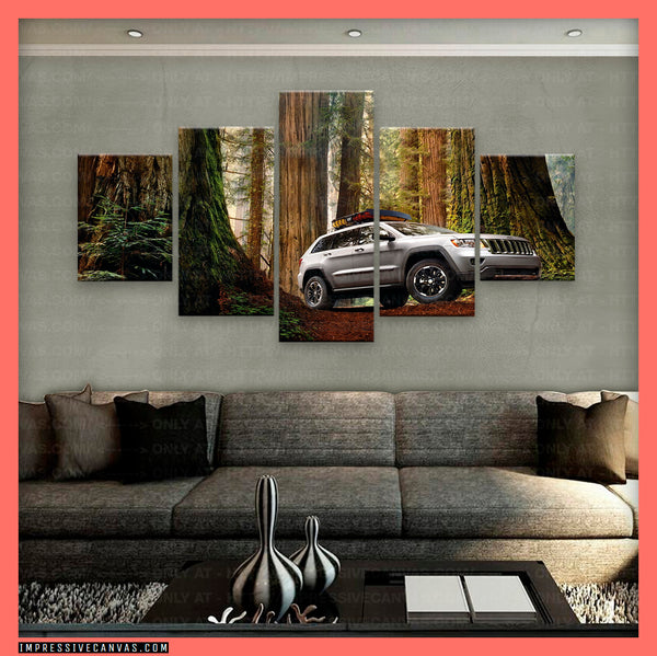HD PRINTED LIMITED EDITION CAR CANVAS (JEEP GRAND CHEROKEE) - (CARC160051)