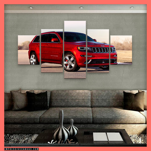 HD PRINTED LIMITED EDITION CAR CANVAS (JEEP GRAND CHEROKEE) - (CARC160047)