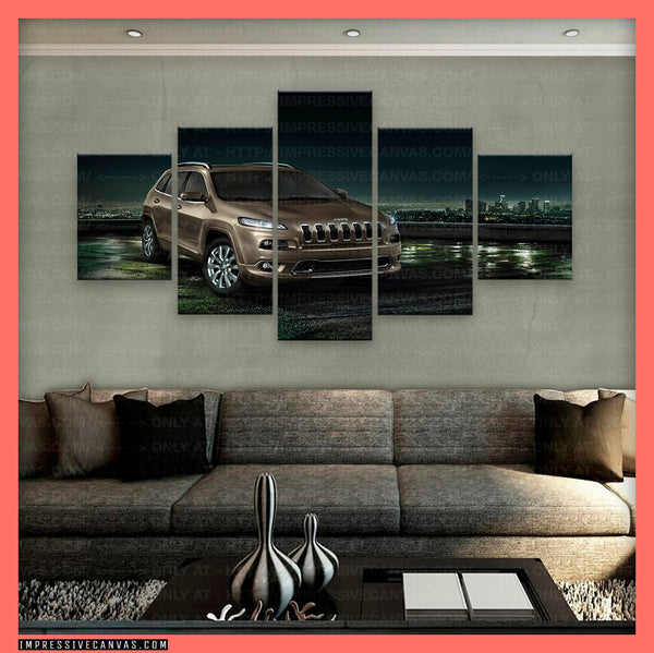 HD PRINTED LIMITED EDITION CAR CANVAS (JEEP GRAND CHEROKEE) - (CARC160049)