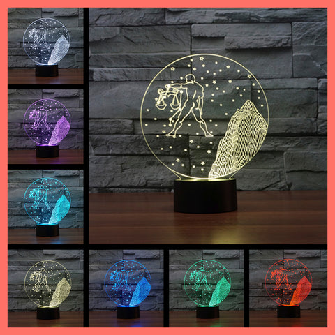 SMART TOUCH 3D LED LAMP ZODIAC LIBRA SIGN (ZLED610007)
