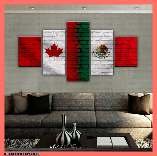 HD PRINTED LIMITED EDITION CANADIAN - MEXICAN (MEXICO) CANVAS (CANMX210015)
