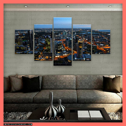 HD PRINTED LIMITED EDITION MELBOURNE CITY, AUSTRALIA CANVAS (MLBAU810002)